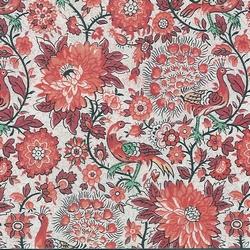 papel decoracion pavos reales rojo x