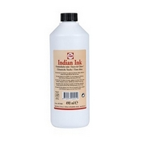 BOTELLA PLASTICO TINTA CHINA NEGRA 'TALENS' 490ml.