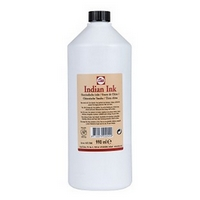 BOTELLA PLASTICO TINTA CHINA NEGRA 'TALENS' 990ml.