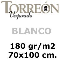 CARTULINA <b>'TORREON' 180gr. BLANCO</b> 70x100 cm.