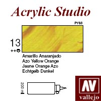 ACRILICO 'STUDIO 13' 200ml. AMARILLO ANARANJADO